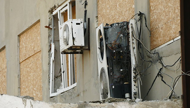 Последствия обстрела Донецкой фильтровальной станции. Архивное фото