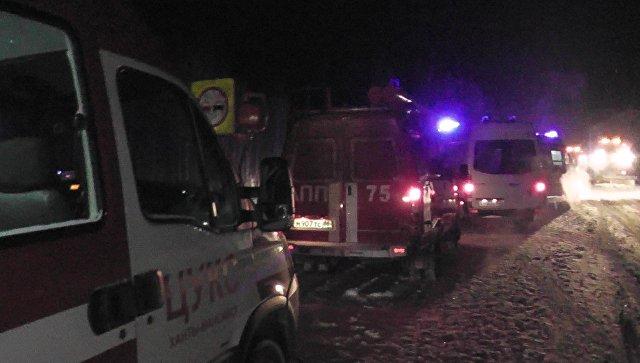 Появилось первое видео сместа ДТП в РФ, вкотором погибли дети