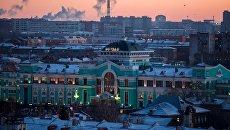 Железнодорожный вокзал, станция Омск-Пассажирский. Архивное фото
