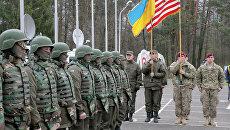 Украинско-американские командно-штабные учения Фиарлес Гардиан — 2015 во Львовской области. Архив