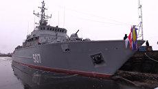 Церемония передача корабля противоминной обороны  Александр Обухов ВМФ РФ