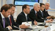 Председатель правительства РФ Дмитрий Медведев проводит заседание попечительского совета некоммерческой организации Фонд развития Центра разработки и коммерциализации новых технологий. 14 декабря 2016
