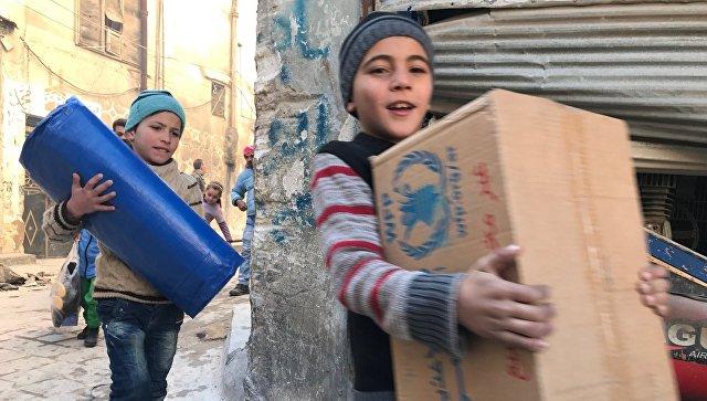 Россия за сутки передала гуманитарную помощь почти трем тысячам сирийцев