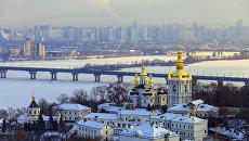 Панорама зимнего Киева. Архивное фото