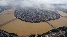 Наводнение в Лючжоу, Китай. 5 июля 2016