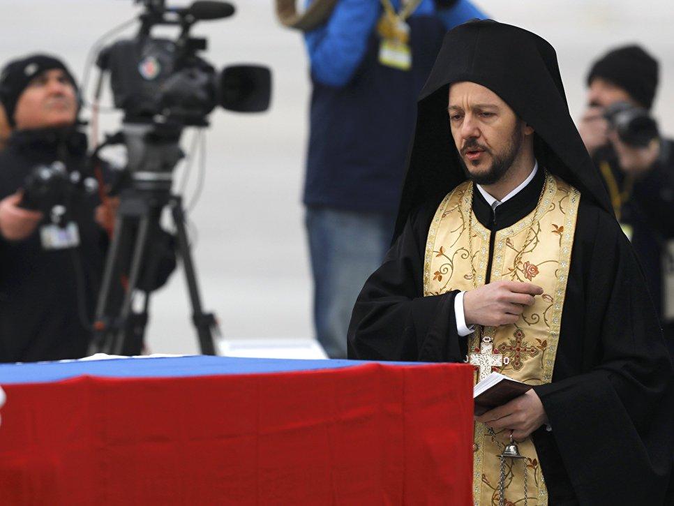 Панихида по погибшему послу России Андрею Карлову в Турции