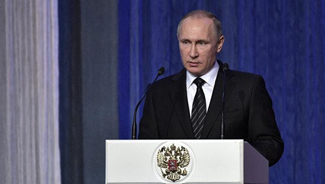 Владимир Путин поздравил спецслужбы РФ спрофессиональным праздником