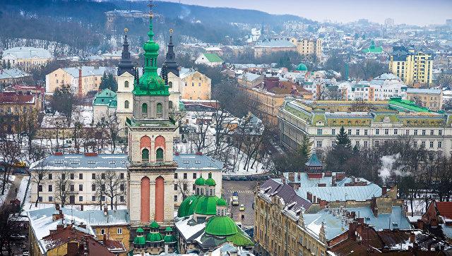 Вид на Львов, Украина. Архивное фото