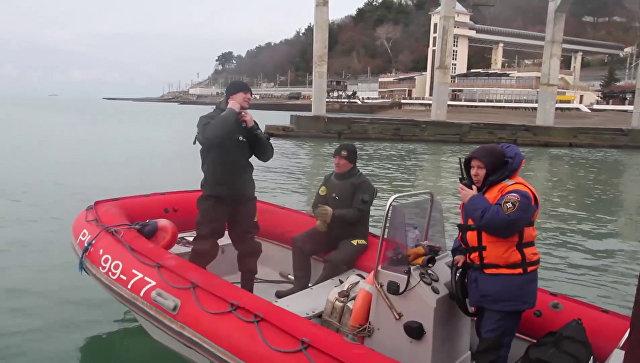 Поисковые работы в акватории Черного моря в районе крушения самолета ТУ-154 в Сочи