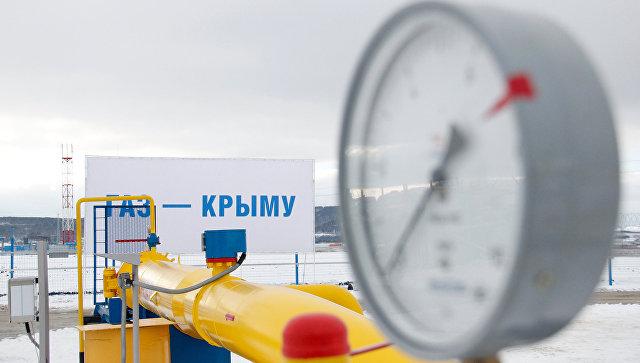 Путин дал старт подаче газа в Крым с материковой части России