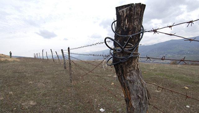 Разграничительная линия между Южной Осетией и Грузией. Архивное фото