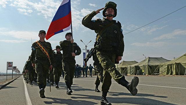 Военнослужащие подразделения миротворческой бригады Центрального военного округа Вооруженных сил РФ. Архивное фото