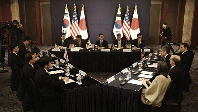 Трехсторонние переговоры представителей США, Японии и Южной Кореи. Архивное фото