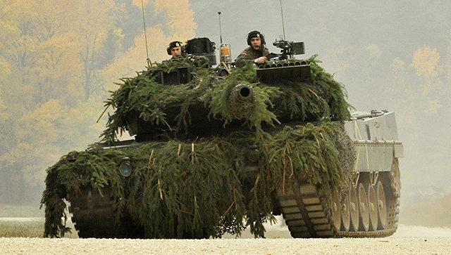 Немецкий военный танк Leopard II