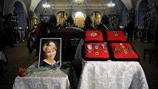 Церемония прощания с Елизаветой Глинкой в Успенском храме Новодевичьего монастыря. 16 января 2017