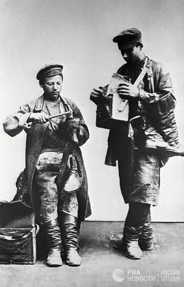 Московские сапожники. 1913 год
