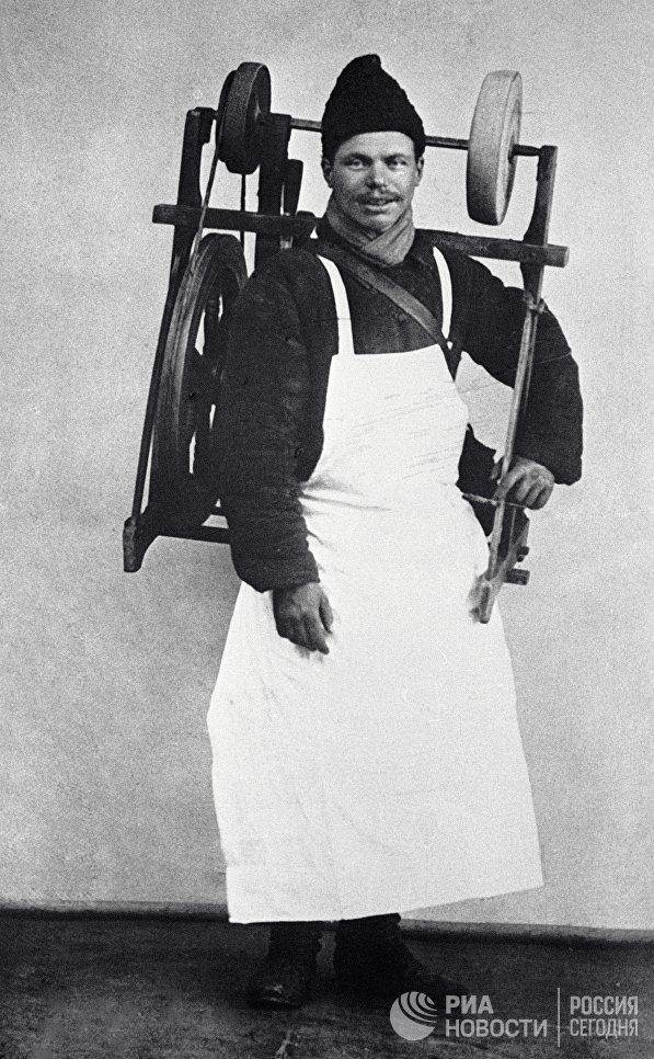 Московский точильщик. 1913 год