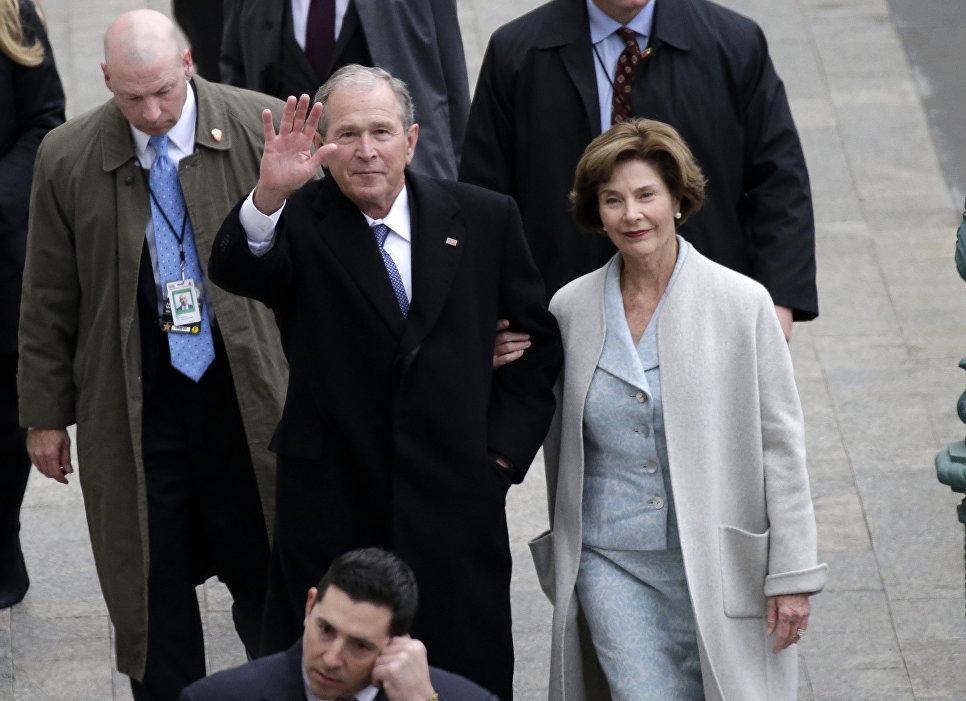Бывший президент США Джордж Буш-младший с супругой Лорой прибыли на инаугурацию Дональда Трампа. 20 января 2017