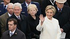 Hillary Clinton e Bill Clinton è venuto a l'inaugurazione di Donald Trump.  20 gennaio 2017