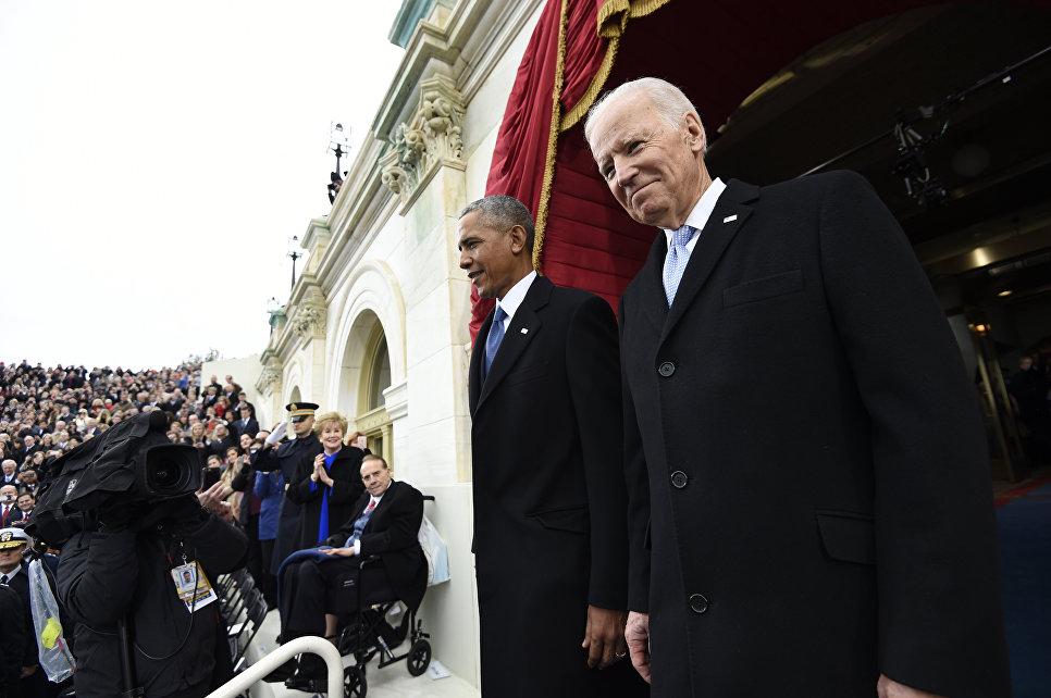 Президент США Барак Обама и вице-президент Джо Байден прибыли на инаугурацию Дональда Трампа. 20 января 2017