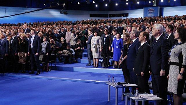 Д. Медведев переизбран председателем «Единой России»