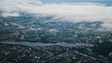 Вид сверху на Москву. Архивное фото