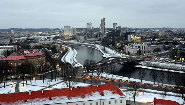 Панорама Вильнюса . Архивное фото