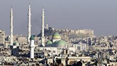 Цитадель Алеппо и мечеть президента, Сирия. Архивное фото