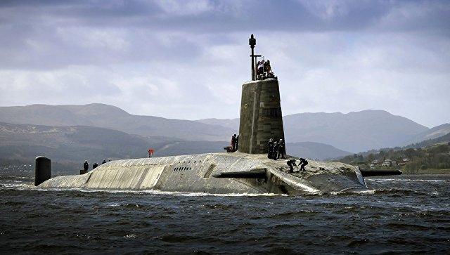 Подводная лодка Vigilant ВМС Великобритании с ракетами Trident II D5 на борту