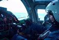 Пилот сверхзвукового стратегического бомбардировщика-ракетоносца ВКС РФ Ту-22М3 во время нанесения авиационного удара по объектам ИГ в провинции Дейр-эз-Зор в Сирии