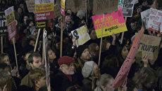Жители Лондона протестовали против ужесточения миграционной политики США