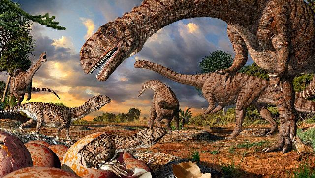 Вребрах китайских динозавров отыскали коллаген