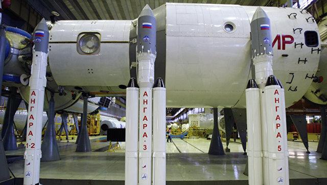 Модели ракет Ангара. Архивное фото