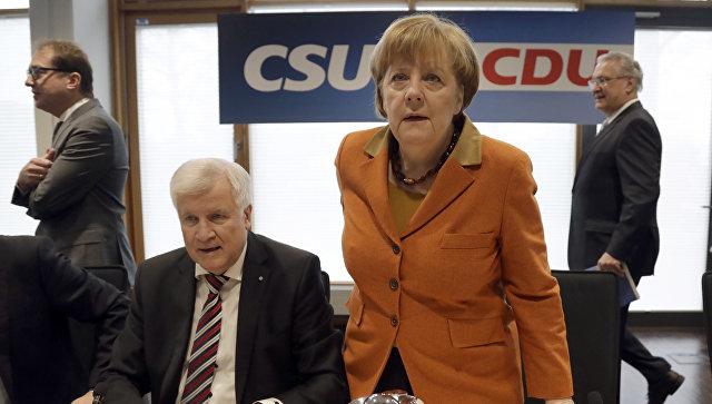 Канцлер Германии Ангела Меркель на совместном заседании президиумов партии Меркель ХДС и ХСС в Мюнхене. Архивное фото