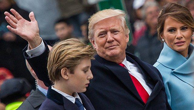 Жена и сын Трампа собираются переехать в Белый дом летом
