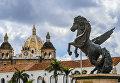 Вид на Старый город в Картахене, Колумбия