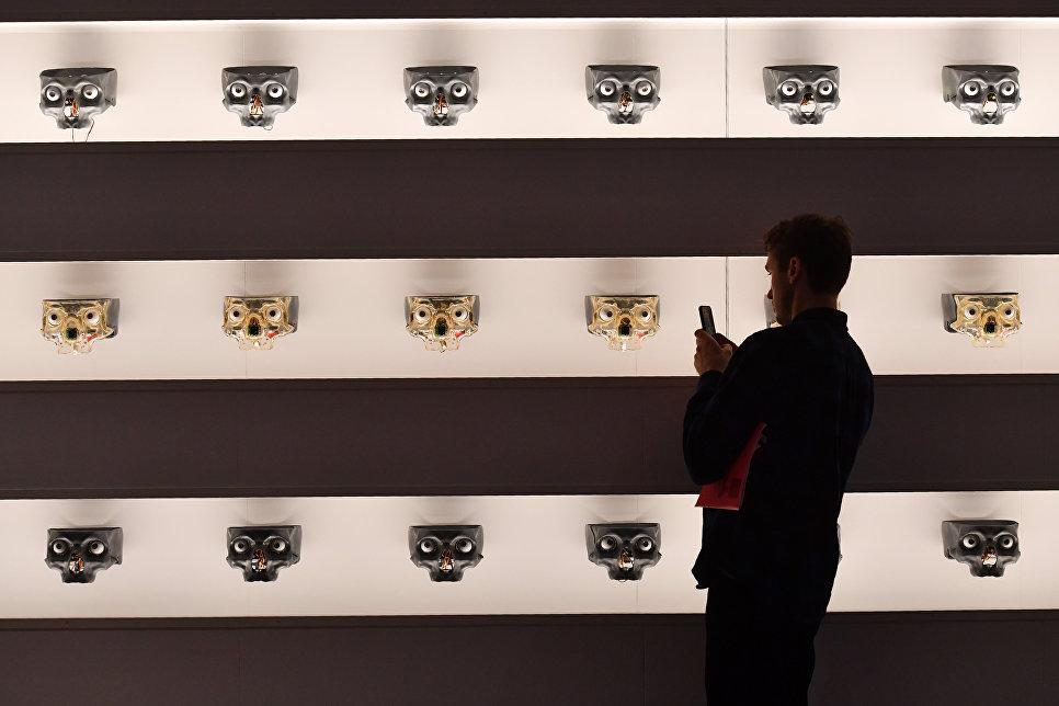 Лица роботов в Музее науки в Лондоне