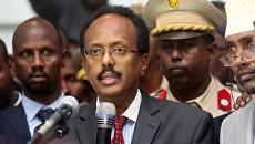 Президент Сомали Мохамед Абдуллахи Мохамед. 8 февраля 2017 год