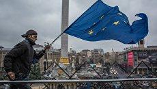 Активист на Майдане в 2014 году. Архивное фото