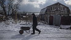 Житель села Донецкой области. Архивное фото