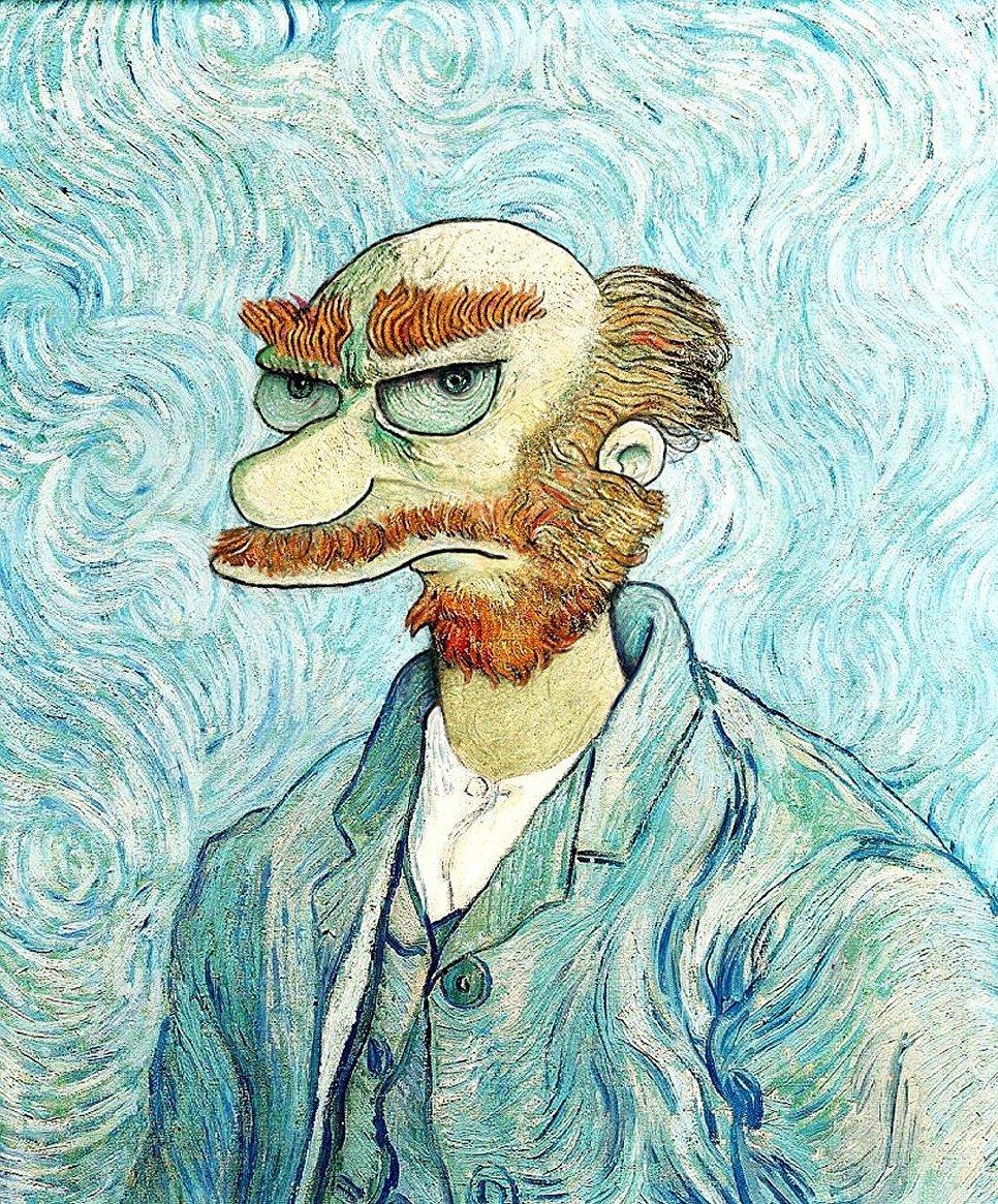 Винсент ван гог смешные картинки, крещение господне