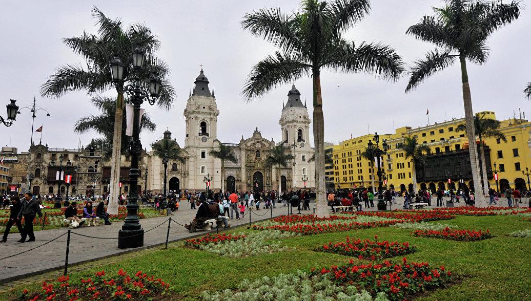Кафедральный собор на Пласа Майор в Лиме. Архивное фото