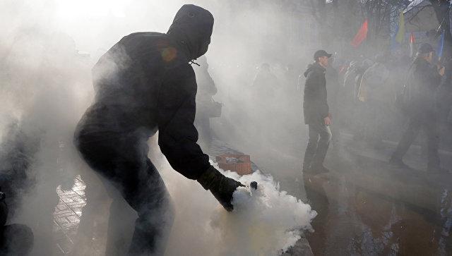 Митинг в центре Киева в поддержку торговой блокады Донбасса. Архивное фото