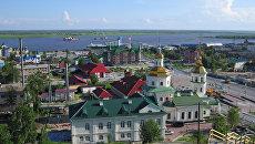 Город Ханты-Мансийск, столица Югры. Архивное фото