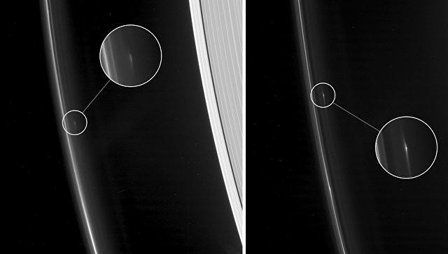 «Кассини» сфотографировал таинственные структуры вкольцах Сатурна
