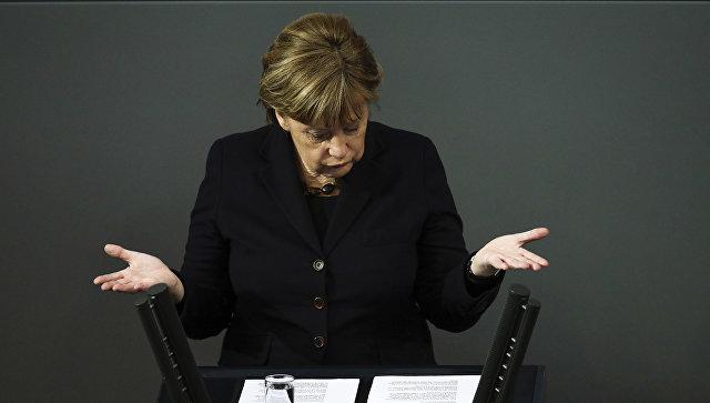 Канцлер Германии Ангела Меркель в парламенте Германии. 17 февраля 2016 год. Архивное фото
