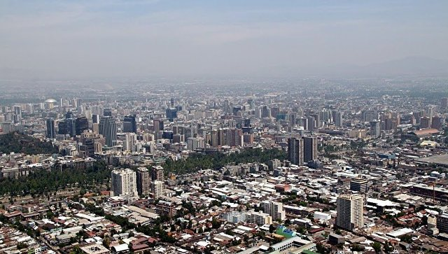 Столица Чили город Сантьяго-де-Чили. Архивное фото