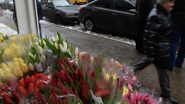 Цветы на 8 марта в москве