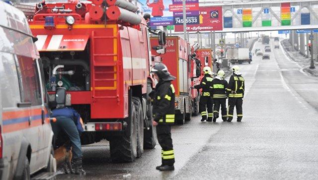 Вспыхнул пожар упричала воВладивостоке