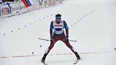 Сергей Устюгов на финише в эстафетной гонке свободным стилем на чемпионате мира в Лахти. 3 марта 2017
